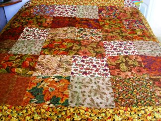 Back of Tessa's Red Quilt